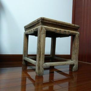 清代榉木大禅凳