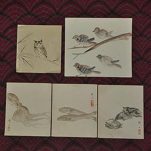 日本画五幅