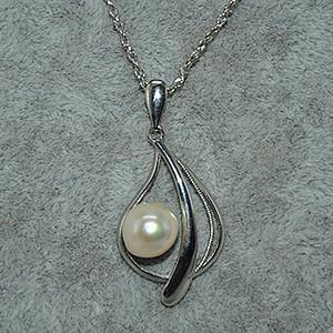 3.7克镶珍珠项链