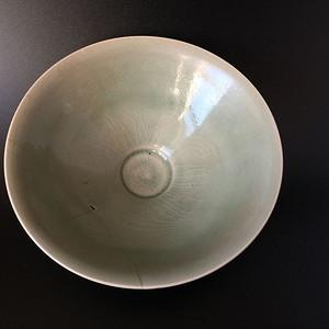 顶级收藏  耀洲窑青釉斗笠碗