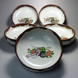 日本回流瓷钵五件套!特撰陶器!