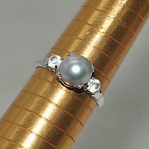 2.1克镶珍珠戒指