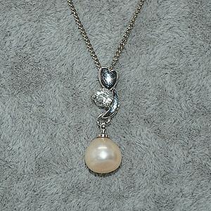 2.8克镶珍珠项链