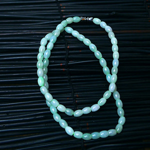 冰润绿米粒通项链