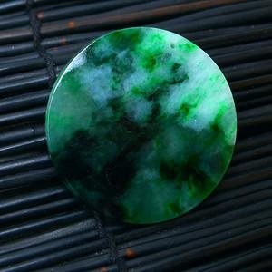 冰润满绿平安牌吊坠