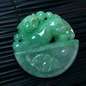 冰润绿貔貅挂件