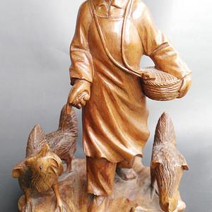 文革黄杨木雕