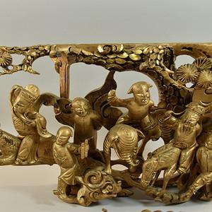 清代金水木雕