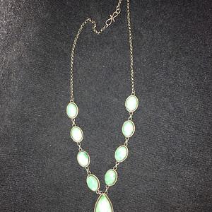 银镶翡翠的项链