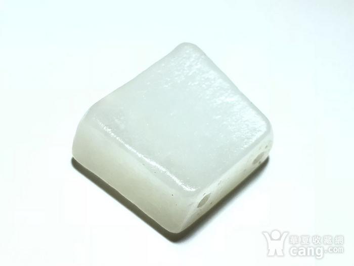明 和田白玉羊脂级 一级白 籽料 饕餮纹 背云 手工雕刻图2