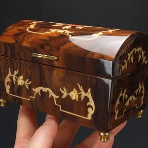 国外回流 金丝乌木精雕 音乐盒