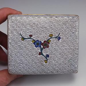 清代 铜胎掐丝珐琅 茶叶盒