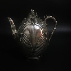 欧洲回流 足银酒壶