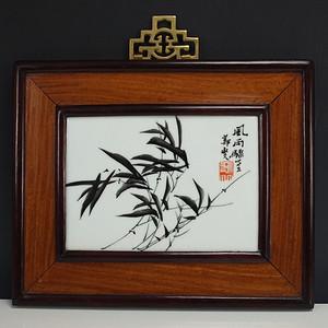 清晚民初 名家 墨彩 瓷板挂画