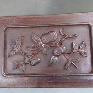 清代红木酸枝花板