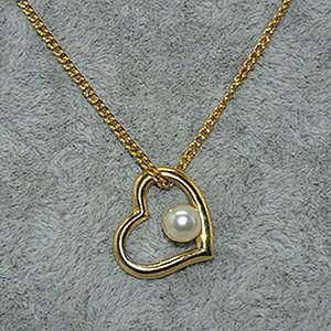 2.5克镶珍珠吊坠项链