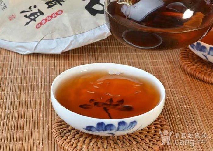 收藏品 2009年八年臻品云南普洱熟茶357克七子饼纯正勐海味茶叶一饼图8