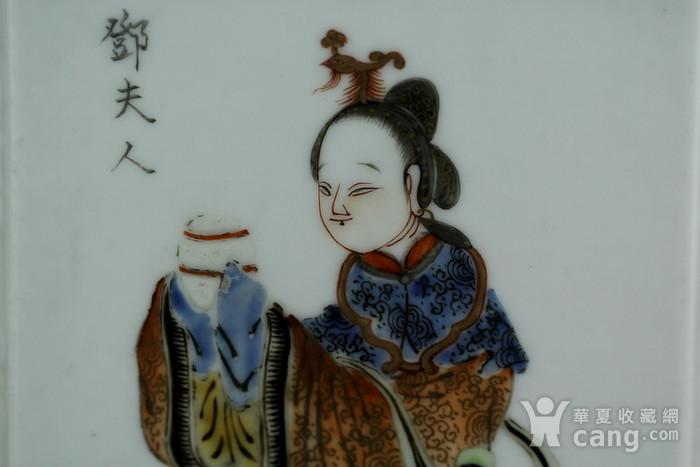 1清咸丰粉彩四美纹笔筒图5