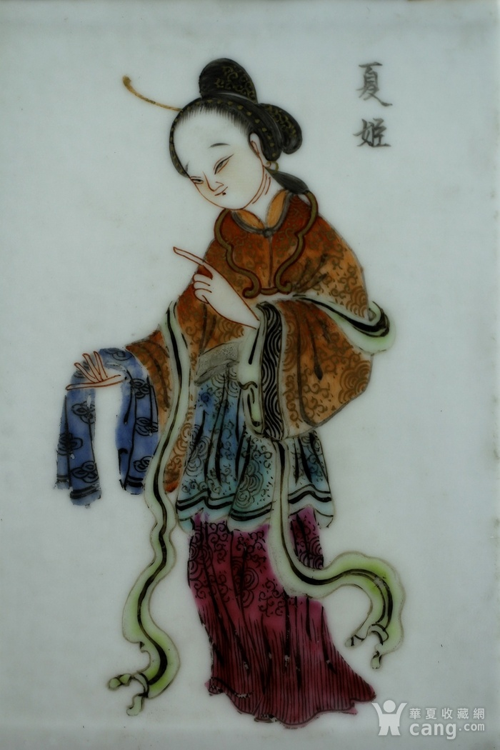 1清咸丰粉彩四美纹笔筒图7