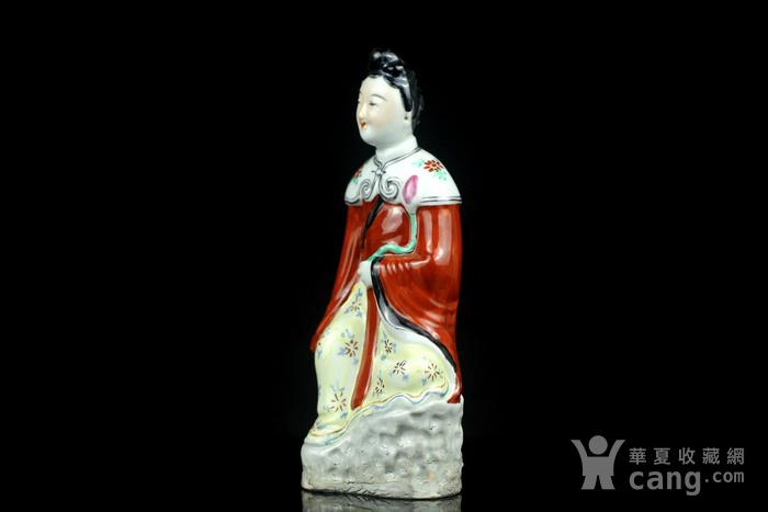 5民国粉彩仕女人物瓷塑图3