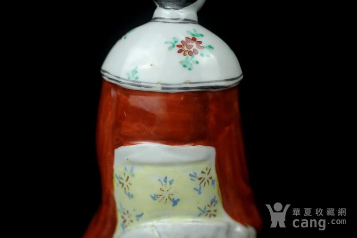 5民国粉彩仕女人物瓷塑图8
