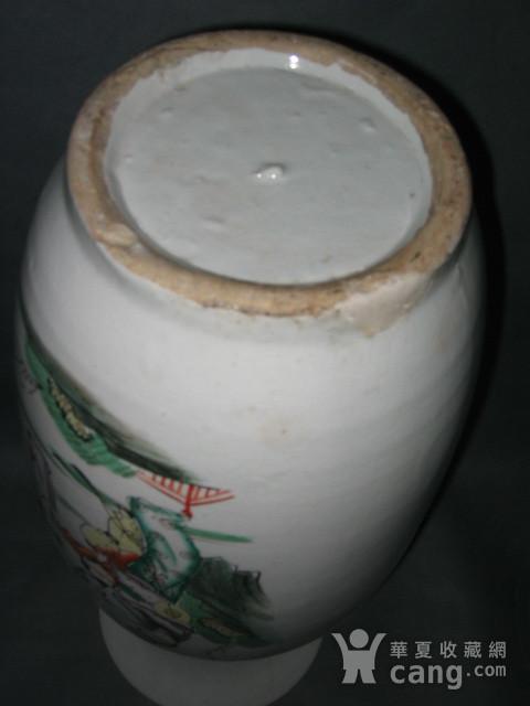 30民国磁州窑300件仕女人物纹大瓶一对图7
