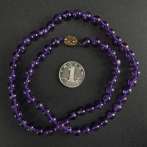 美国回流 天然紫水晶 项链63厘米