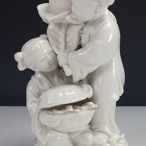 清代 德化窑白釉 瓷塑像