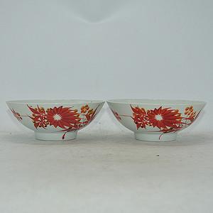 老瓷碗两个