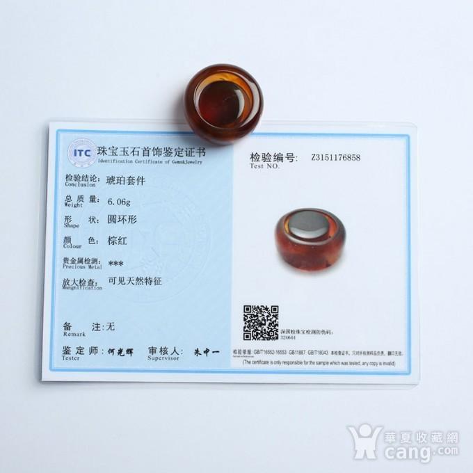 棕红缅甸琥珀戒指 27JG02图9