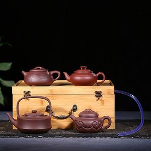藏品名称 百年景舟.景舟四式紫砂壶 顾景舟诞辰100周年纪念壶