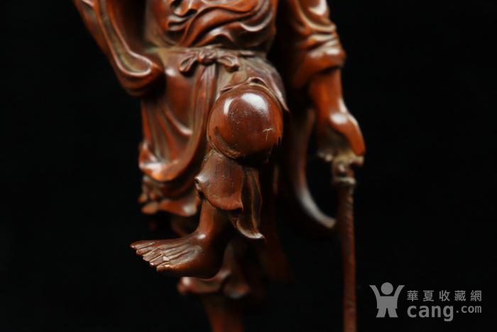 旧藏小叶黄杨渔翁得利人物摆件图7