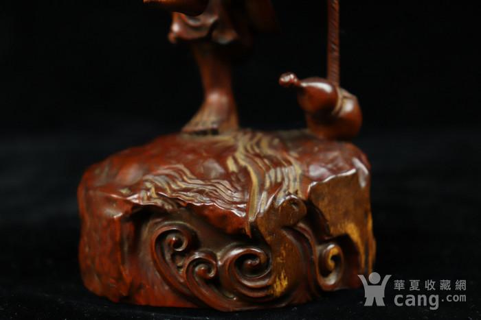 旧藏小叶黄杨渔翁得利人物摆件图8