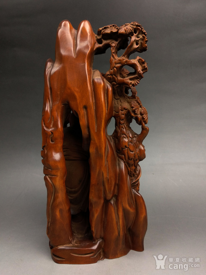 旧藏小叶黄杨寿星珊子人物摆件图3