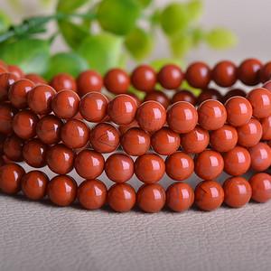 联盟 正宗川料柿子红南红玛瑙108颗佛珠珠串