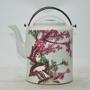 江西程利顺粉彩老茶壶