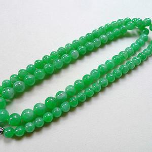 联盟自然光实拍!天然A货好种阳绿项链