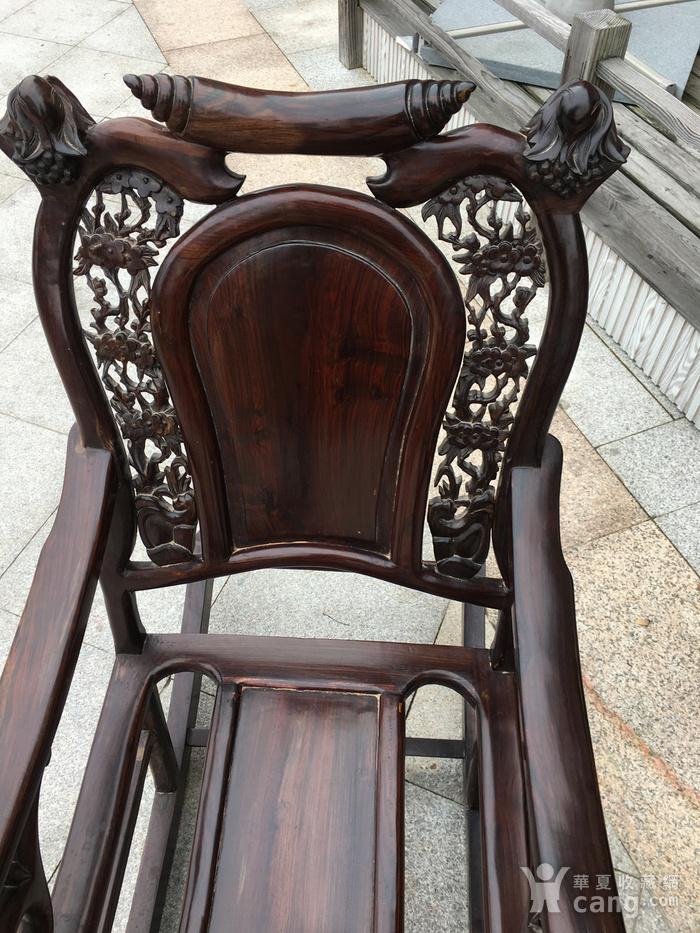 红酸枝摇椅图3