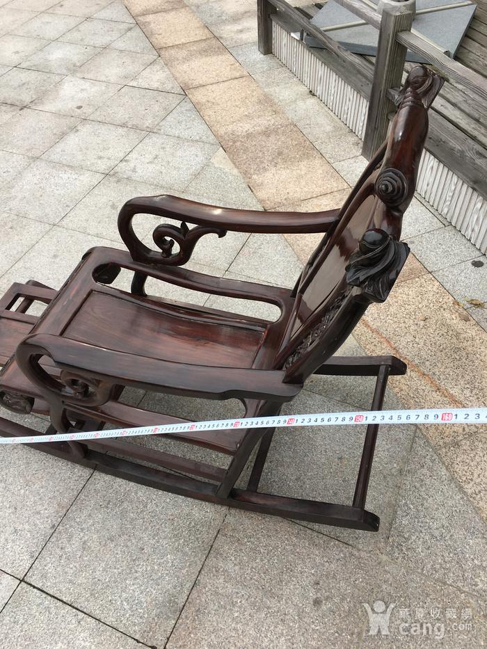 红酸枝摇椅图5