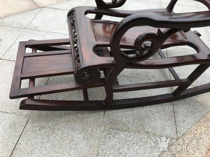 红酸枝摇椅图10