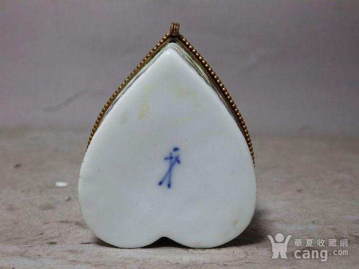 维多利亚时期粉彩心形首饰盒图5