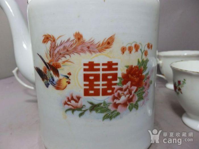 文革时期凤穿牡丹绘画茶具一套图3