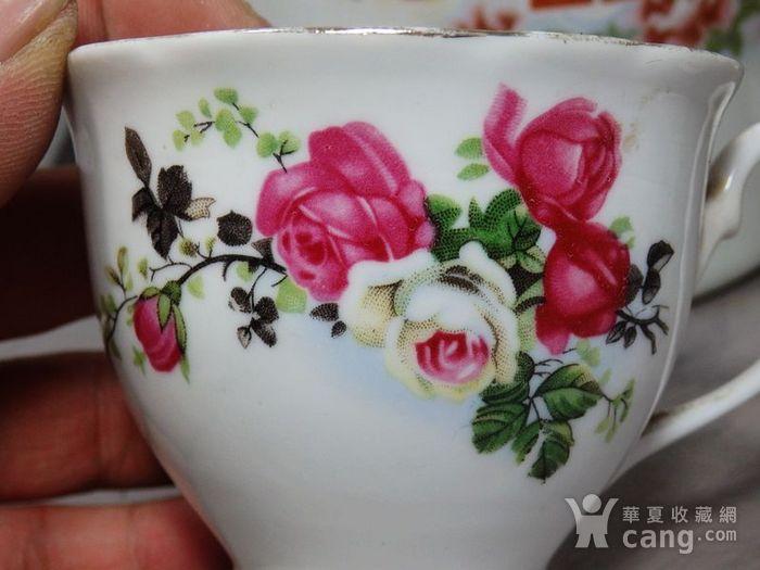 文革时期凤穿牡丹绘画茶具一套图4