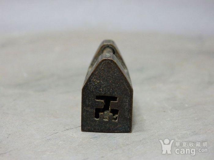清代铜制小锁图3