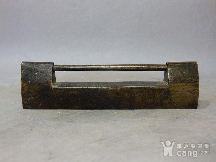 清代黄铜长型锁图2