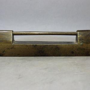 清代黄铜长型锁