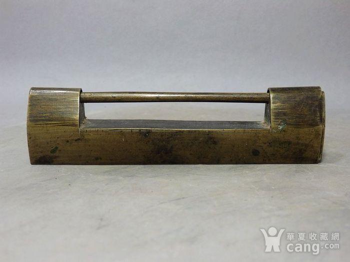 清代黄铜长型锁图1