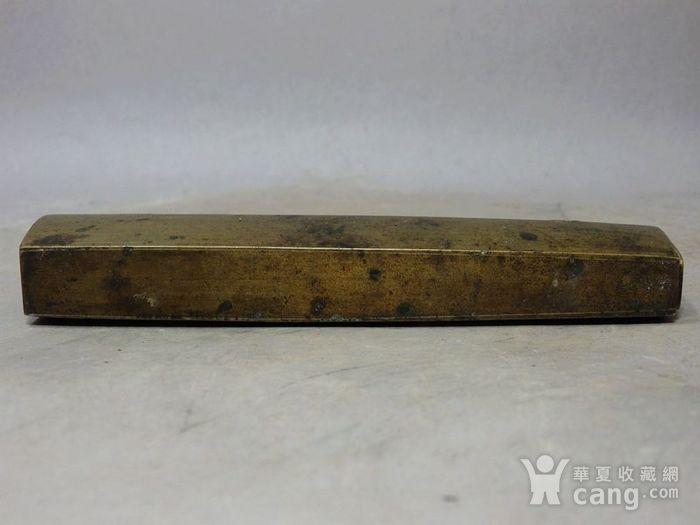 清代黄铜长型锁图5