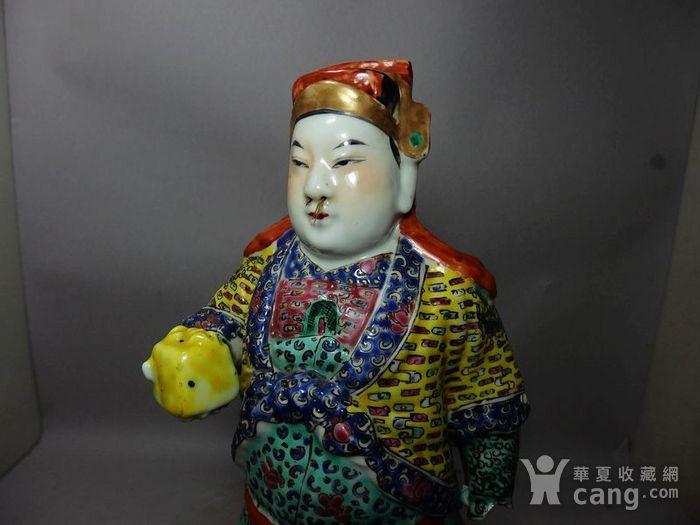 清代粉彩武将塑像图5