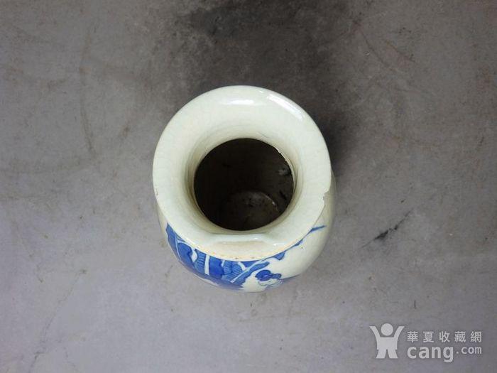 清代畏瓷青花三 教子人物绘画灯笼瓶图5